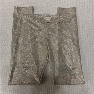 ADRIENNE shiny gold pants for women size large